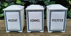 3 Old Storage Containers Boxes Spices Max Roesler Rodach Design
