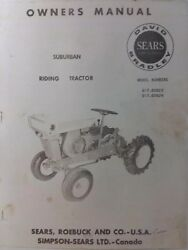 Sears Db David Bradley 725 Garden Tractor Owners And Engine Parts 2 Manual S Gt
