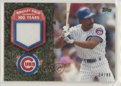 2016 Topps 100 Years At Wrigley Relics /99 Andre Dawson Wrigr-ad Hof
