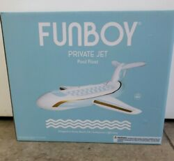 New Funboy Private Jet Plane Pool Float L95 X 90 Ages 14+