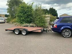 Flat Bed Twin Axle Trailer With Electric And Brakes.