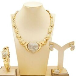 Hugs Andkisses Xo Set Necklace Bracelet Earrings Ring 18k Layered Real Gold Filled