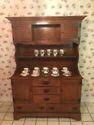 Vintage Ethan Allen Baumritter Colonial Farmhouse Nine-draw/cabinet China Hutch