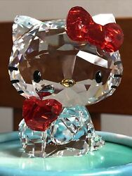 Crystal Figurine Sanrio Hello Kitty With Red Apple 1095878 Mint Cond.