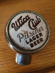 Utica Club Pilsener Lager Beer Ball Style Tap Knob West End Brewing Co. Ny Rare