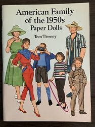 American Family Of The 1950s Paper Dolls In Full Color By Tom Tierney Uncut