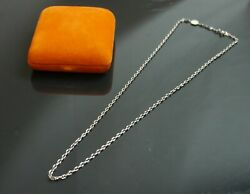Authentic Hermes Chaine D'ancre Necklace Chain Serie Sterling Silver 5661