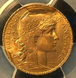 1911 French Marianne Rooster Antique Coin