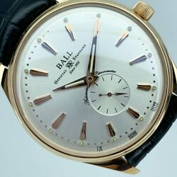 Ball Watch Tomiya Original Model Nm3888d Automatic Silver Dial Rose Gold Mens