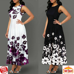 Elegant Long Dresses Floral Fashion Clothes For Women Casual Party 2020 New GBP 12.49
