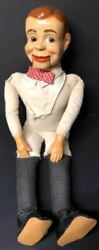 Jerry Mahoney Vintage Early Production Ventriloquist Doll Moving Mouth 24