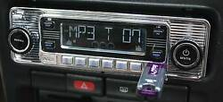 Vintage 60and039s Look Am Fm Car Stereo Radio Ipod And Usb Cd Bluetooth Classic Style