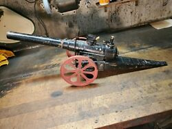 Antique Big Bang Cannon No. 15 Fc W 10cc Charger Cast Iron Wheels Riveted Style