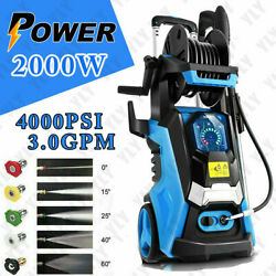 4000psi-electric Pressure Washerhigh-power Cleaner,water Sprayer Machineand3.0gpm