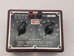 Cornell Dubilier Cdb3 0.1andmicrof To 1.0andmicrof 2 Decade Capacitance Box Verfied Calibrated