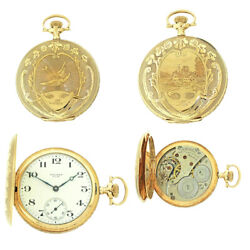 1919 Antique Waltham Solid 14k Yellow Gold Pocket Watch Model 1908 Very Fine