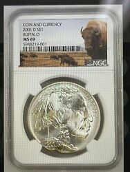 2001 D Buffalo Coin And Currency Set Ms 69 Buffalo Label Coin Only With Toning