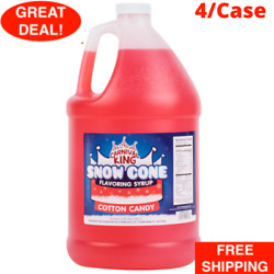 1 Gallon Carnival King State Fair Cotton Candy Snow Cone Syrup - 4 Case