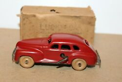 Nice Vintage Tin Wind Up Lucky Car Made In Occupied Japan With Box