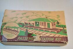 Plasticville 1950s O Scale Passenger Station Kit In Box Rs-8