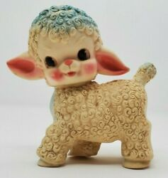 The Sun Rubber Co Vintage 1955 Vinyl Sheep Lamb Figure Squeaker Toy Pink 6 Tall