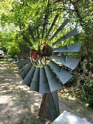 6 Foot X 702 Aermotor Windmill Original Chicago Head Gearbox And Tail Vane