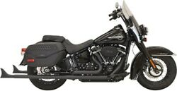 Bassani True Duals With Fishtail Mufflers 36 For 2018-2020 Harley Flhc Flde
