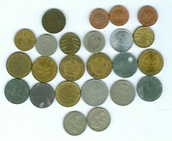 Twenty Four German Coins Over 60 Years Old