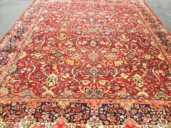 Stunning Antique Sultanabad Hand Knotted Oriental Rug.