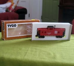 Tyco Ho Scale Model Train 7240 Atsf Red Caboose W/ Black Roof In Original Box