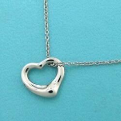 And Co. Open Heart Necklace Mini Rank Previously Owned No.4799