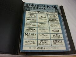 Horological Journal 1955 5 Issues British Clock And Watch Magazine Longines Rotary