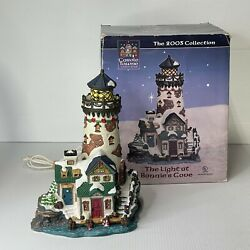 Carole Towne Porcelain Lighted Christmas Village Light At Bonnie's Cove Tested