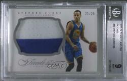 2013-14 Panini Flawless /25 Stephen Curry 42 Bgs 9 Patch