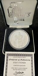 Anonymous Mint Executioner 1 Oz Silver Proof Medallion Limited Edition 0260/5000