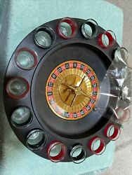 Roulette Drinking Shot Glass Game 16 Shot Glasses Included