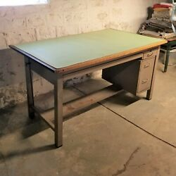 Vintage Large Mayline Drafting Table Art Crafting Workbench