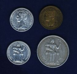 Africa Group Lot Of 4 Coins Includes French Cameroon French Somaliland And