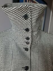 Burberry Vintage Hound Tooth Wool Amazing Button UP Collar Blazer **AWESOME**