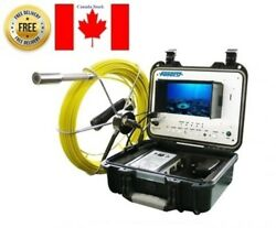 Sewer Drain Pipe Cleaning Inspection Video Snake 1' Camera 100 Foot Cable 7 Lcd