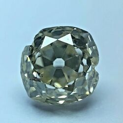 Antique 1.10ct Natural Old Mine Brilliant Loose Diamond Fancy Light Yellow / Si1