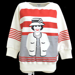 01a 44 Mademoiselle Long Sleeve Tops Sweatshirt White Authentic 03845