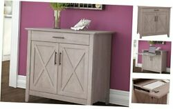 Key West Secretary With Keyboard Tray And Storage Cabinet In Desk Washed Gray