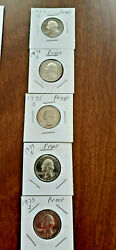 1973-1974-1975-1976-1977 S Proof Quarter/ Nickel/dimes From Us Proof Set