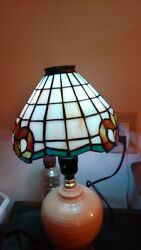"""Vintage Stained Glass Small Lamp Shade Only 7"""""""