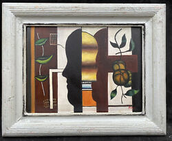 1950s Spanish / French Cubists Still Life Oil Painting Composition - F.leger