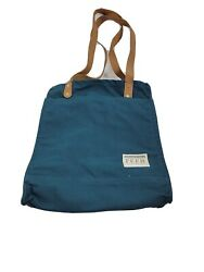 FEED Projects Canvas Market Tote Bag Cause Box Pockets Long Straps New $35.99