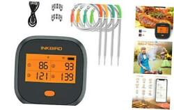 Wifi Meat Thermometer, Wireless Grill Bbq Thermometer With Calibration, 4