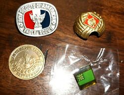 Lot Of 4 Boy Scout Bsa Eagle Scout Neckerchief Slide, Lds Coin And Pin