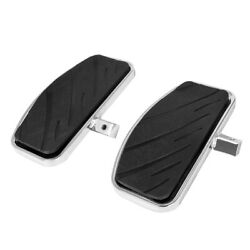 Pair Motorcycle Front Footboards Floorboards Black Driver Pedal For Honda Yamaha